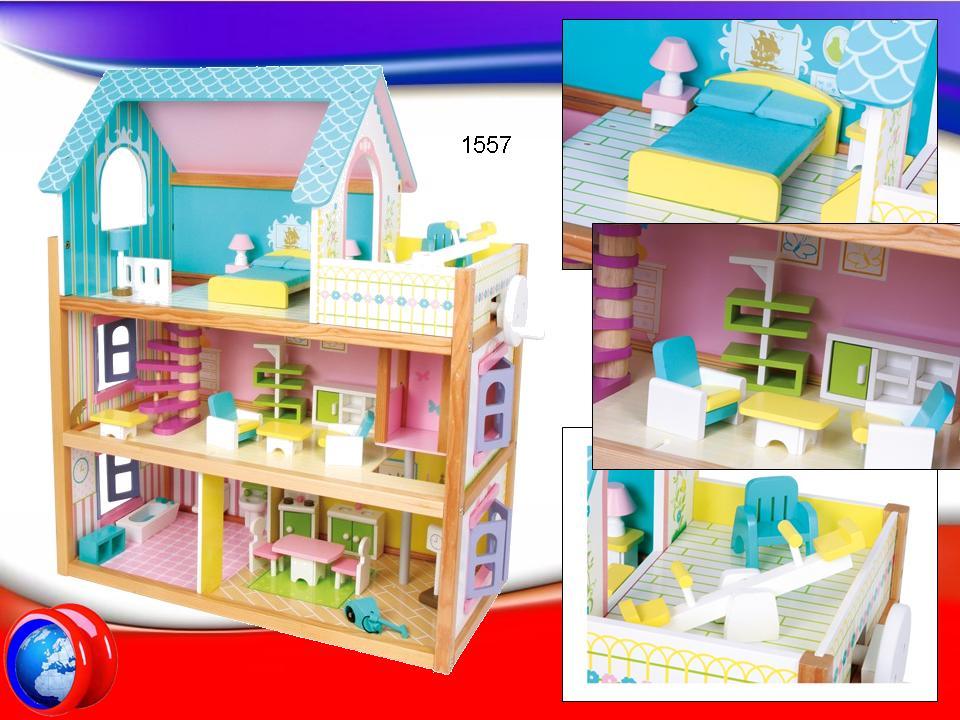 1557 casa delle bambole residence in legno yo yo service - Casa delle bambole in legno ikea ...