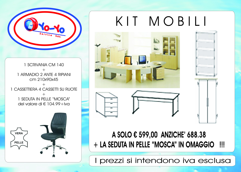KITARREDO Kit Mobili di Facile Montaggio  YO-YO Service