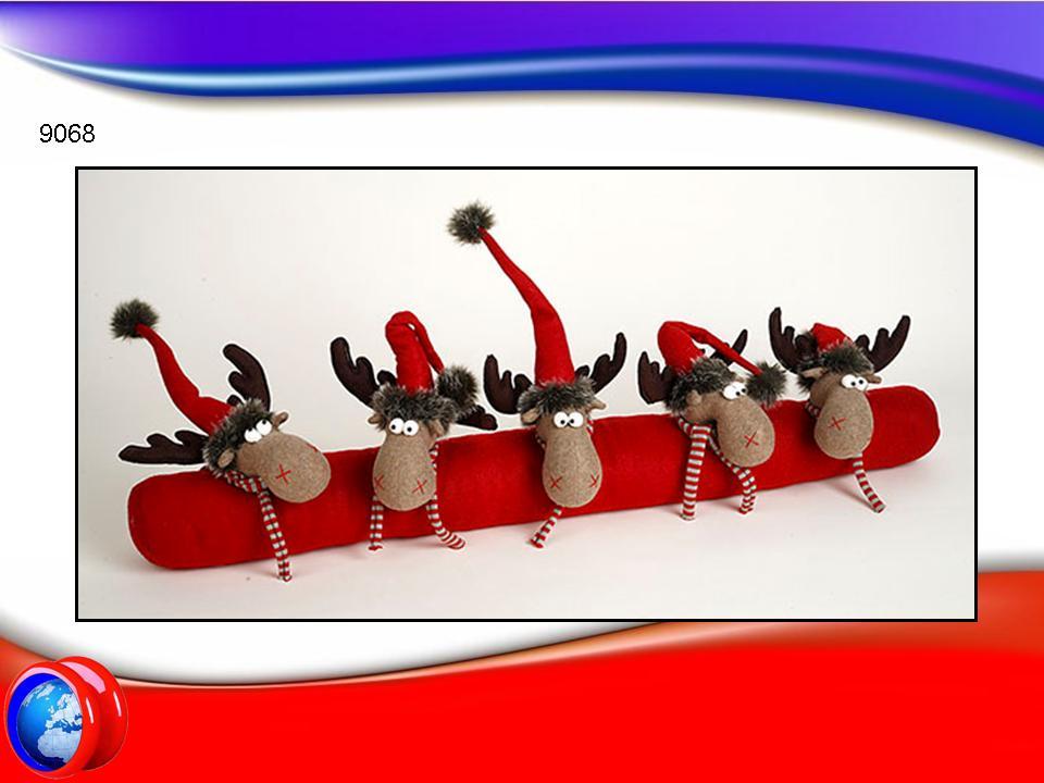 9068 antispiffero natalizio con renne yo yo service - Decorazioni natalizie per porte e finestre ...