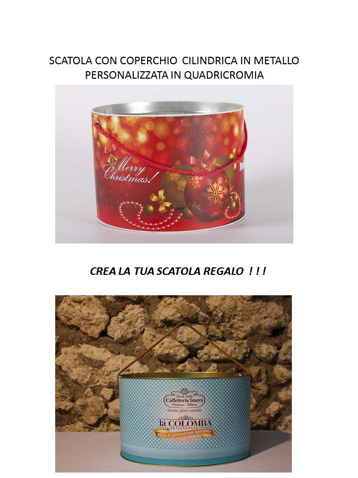 PANETTONE COLOMBA SCATOLA REGALO PERSONALIZZATA IN QUADRICROMIA GIFT BOX