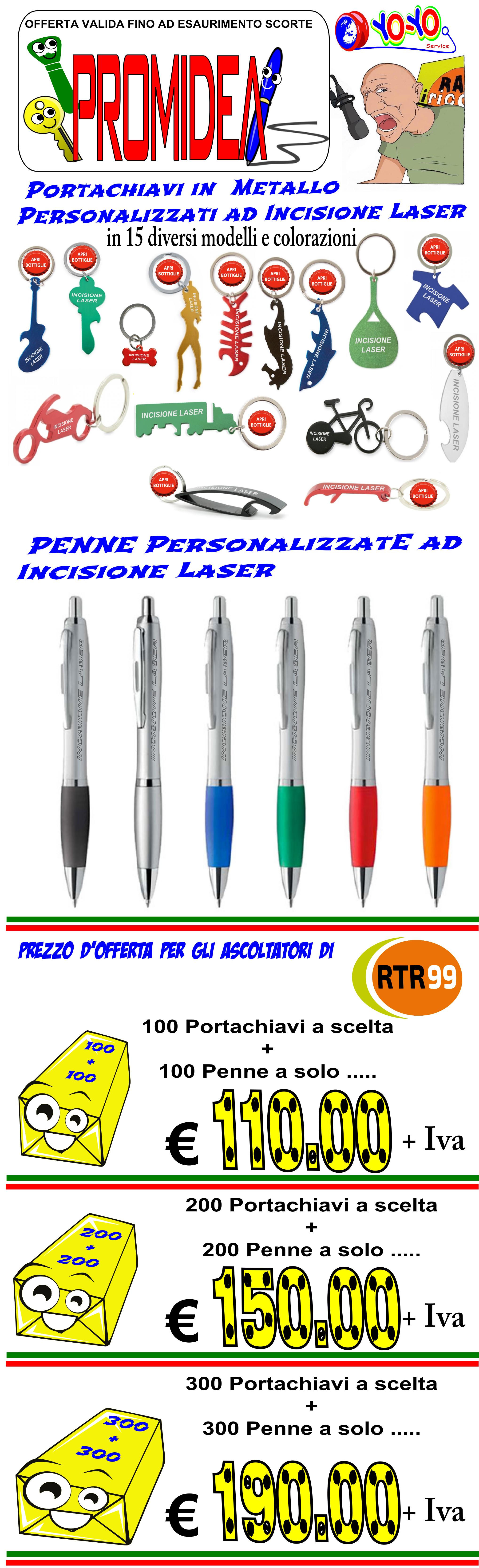 pacco casciani PROMIDEA gadget articoli promozionali rtr99 luca